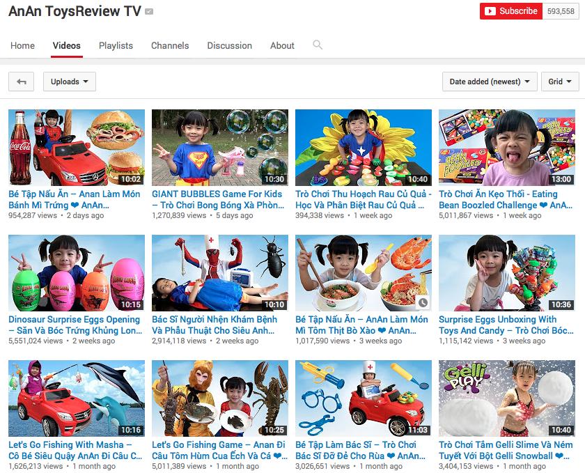 AnAn ToysReview TV - kênh chuyên review đồ chơi