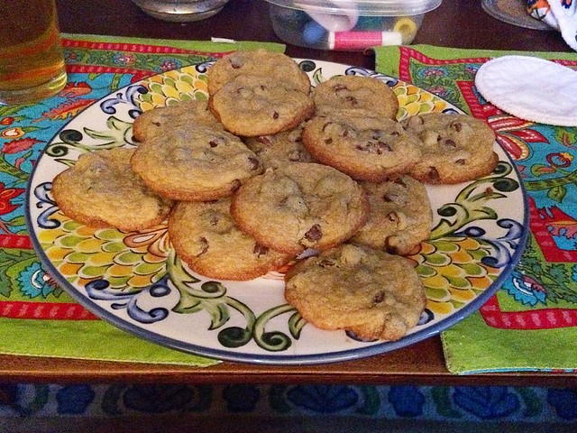 My brother's wife is a great houseguest: 🍪🍪🍪🍪🍪.