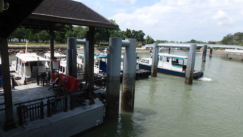 Pontoon works at Changi Point Ferry Terminal
