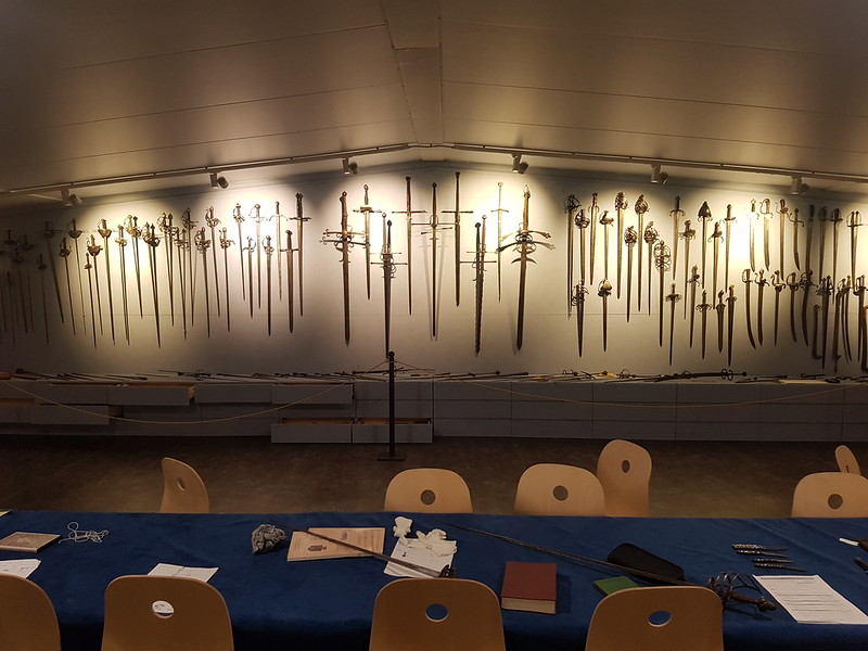 Wall of swords at the Gairethinx museum