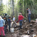kids prospecting with yellowstone group