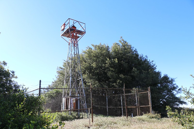 Volcan Mountain Airway Beacon Light Tower from the 1920's to help planes deliver Air Mail