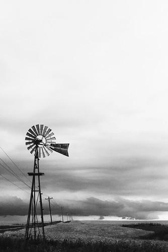 B&W windmills.
