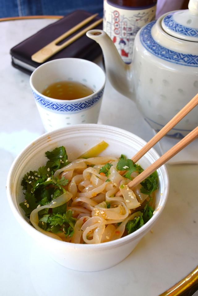 Green Tea & Glass Noodle Salad at Bun House, Soho | www.rachelphipps.com @rachelphipps