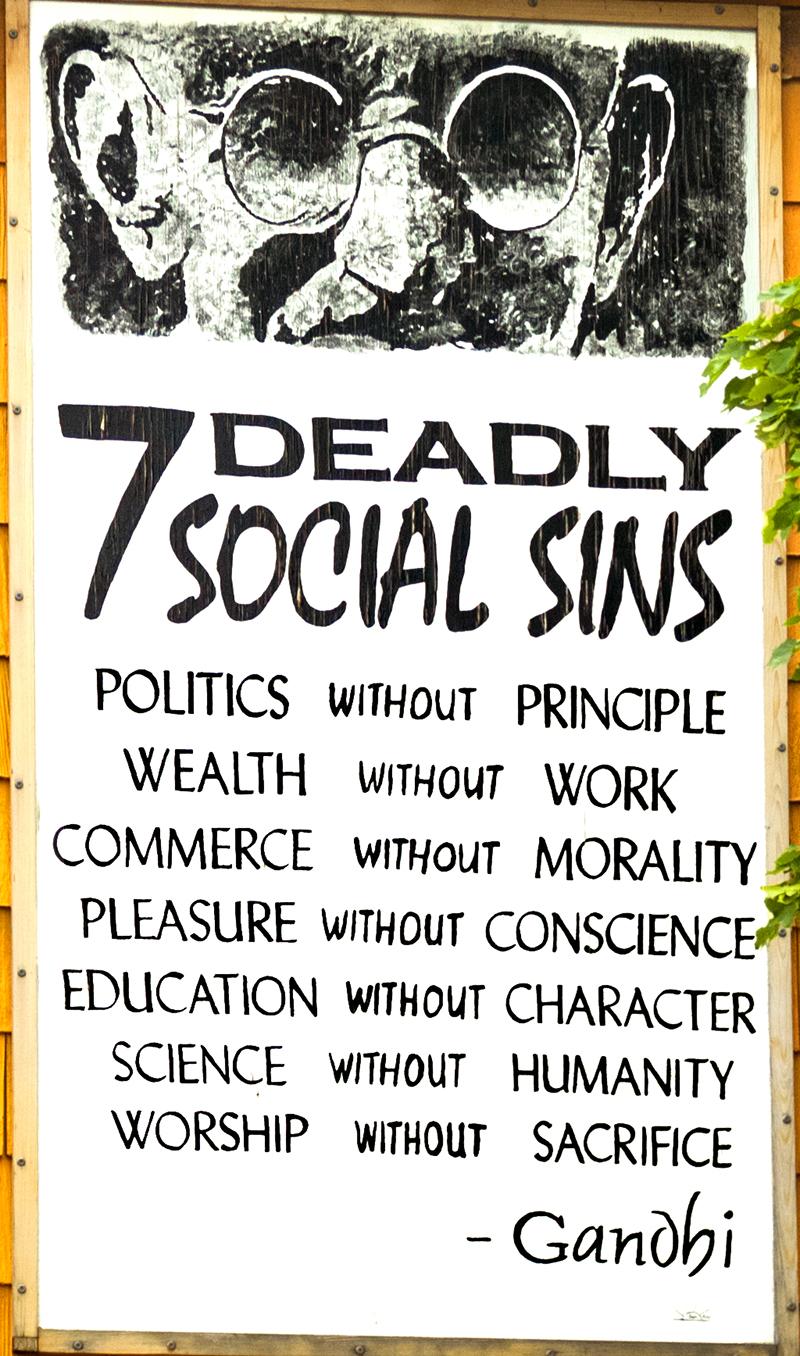 7 DEADLY SOCIAL SINS--Buffalo (detail)