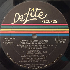 THE CROWN HEIGHTS AFFAIR:DREAMING A DREAM(LABEL SIDE-B)