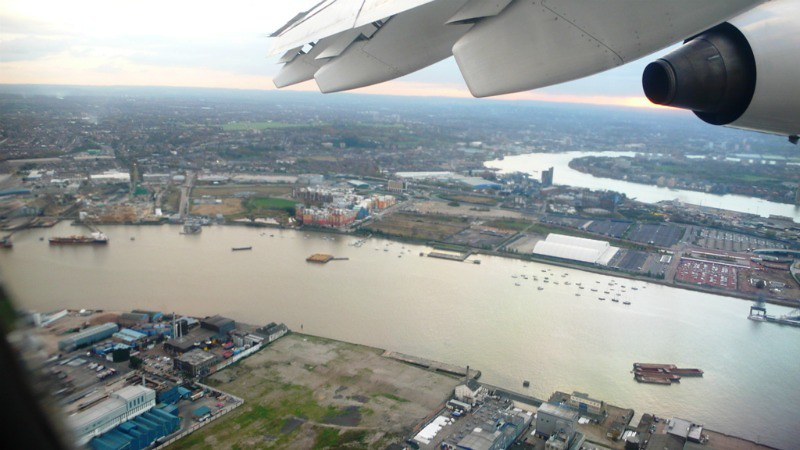 In the air - View over the Thames
