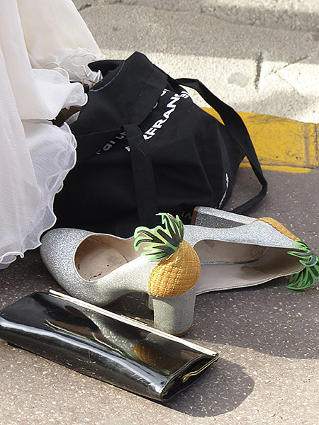 chaussures ananas