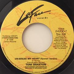 TONI BRAXTON:UN-BREAK MY HEART(LABEL SIDE-B)