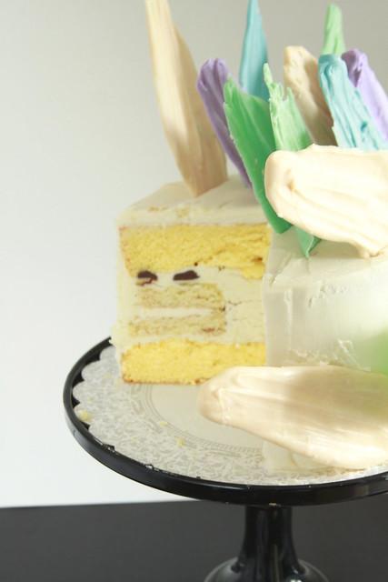 Pastel 80s Zebra Cake
