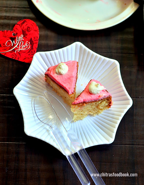 Eggless cake in a pressure cooker