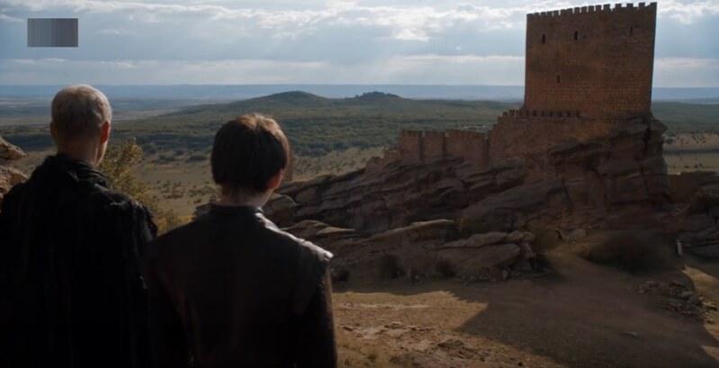 Castillo de Zafra en Juego de Tronos