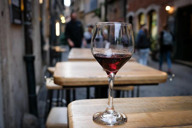 Wine break in Rome