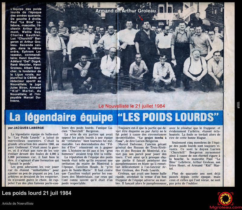 Les poids lourd 21 juil 1984