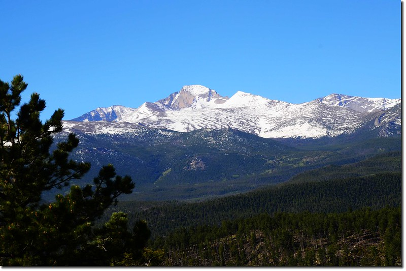 Viewing Longs Peak from Trail Ridge Road