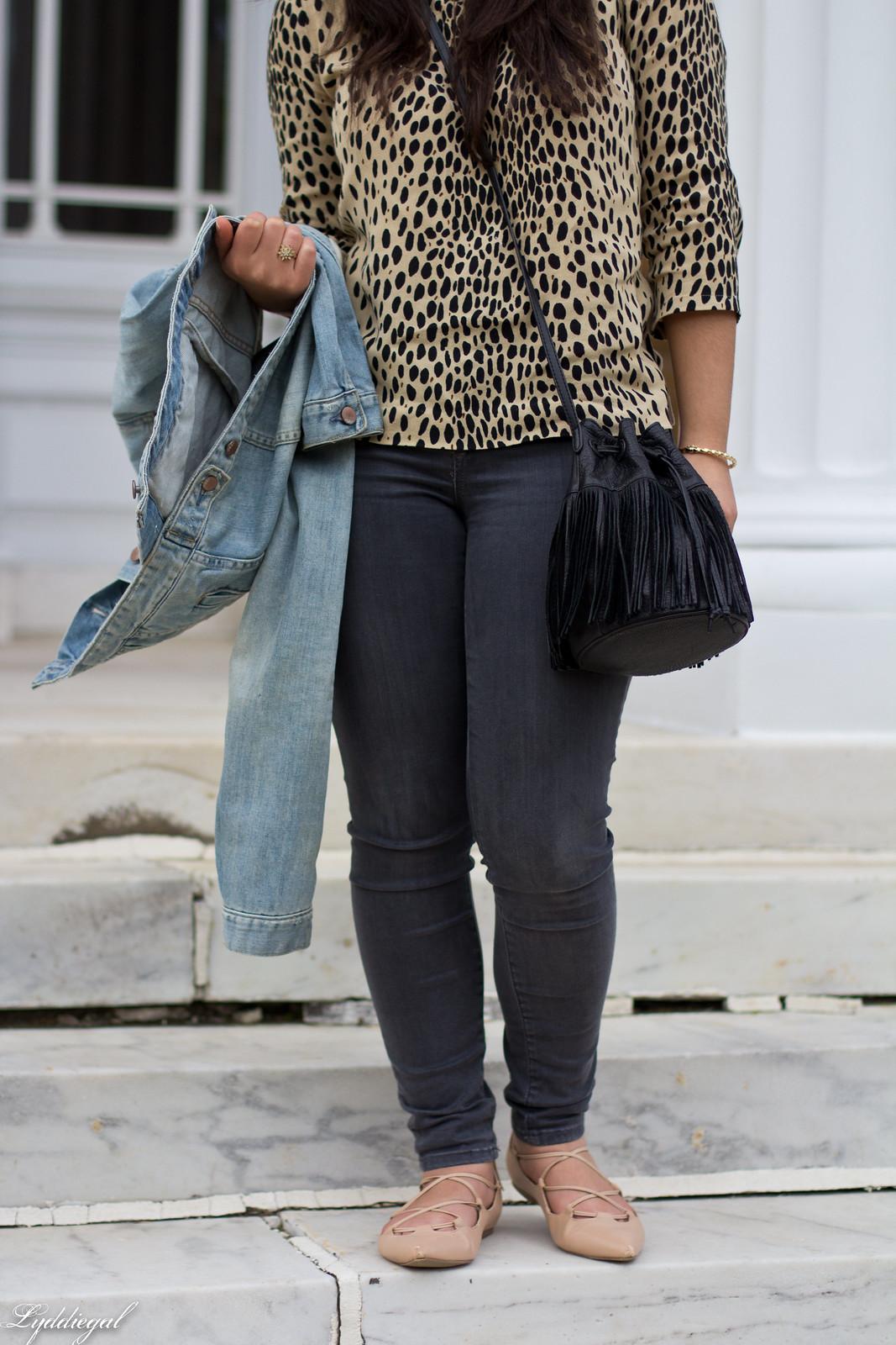 leopard blouse, grey jeans, denim jacket, fringe bag-3.jpg