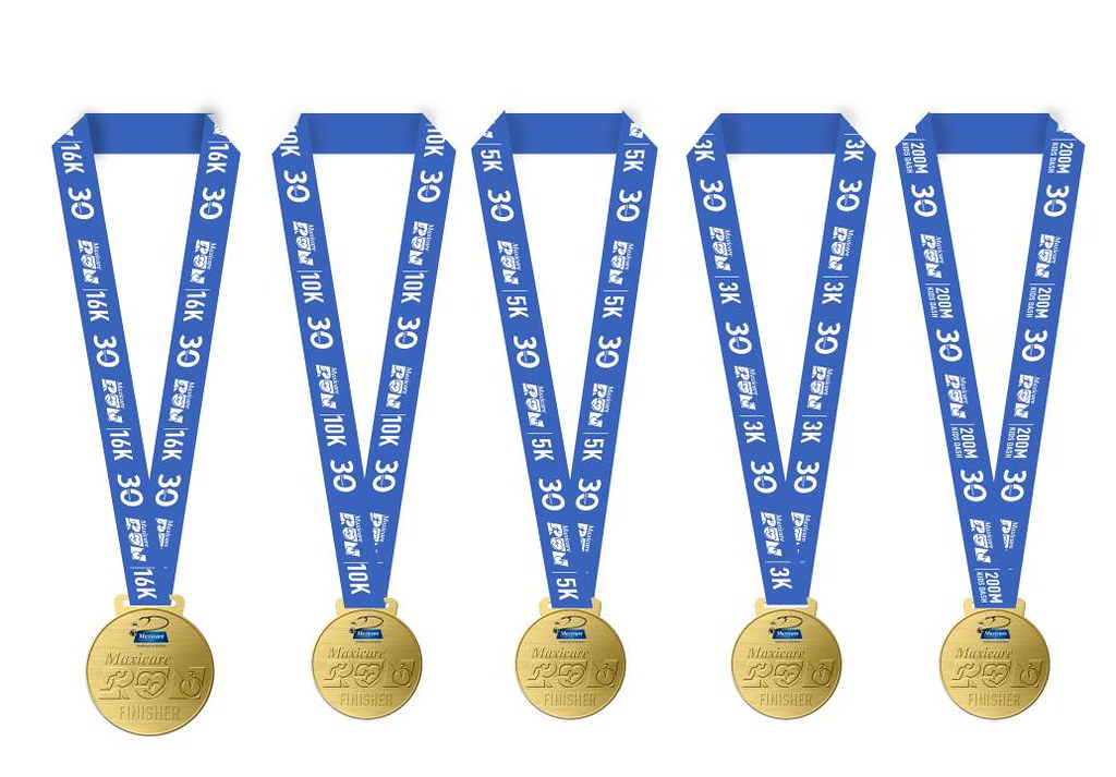 Medals for all finishers