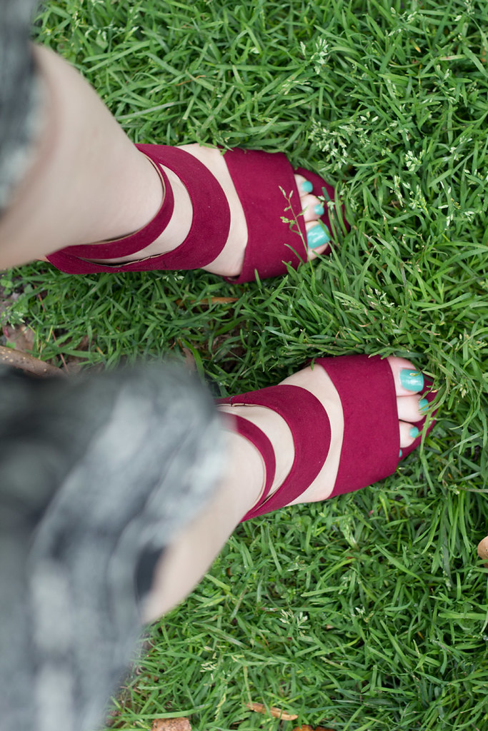 Raspberry Red Sandal Heels from Target