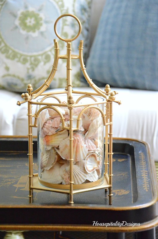 Shell filled Pagoda lantern-Housepitality Designs