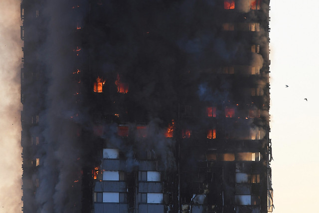 Massive fire at London tower block