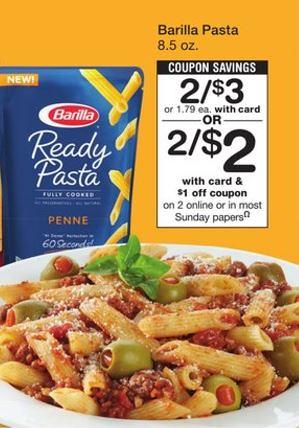 Barilla Ready Pasta pouch
