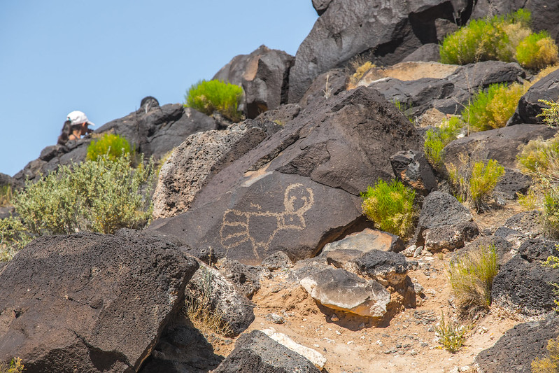 Petroglyphs at the Petroglyph National Monument in Albuquerque
