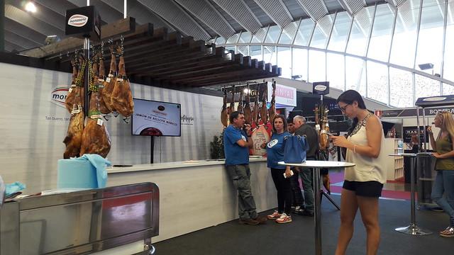 Stand de Montesano, empresa de productos de embutidos y carnicería con fábricas en Extramadura y Canarias