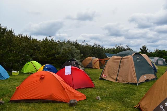 GWの底土キャンプ場の混雑具合