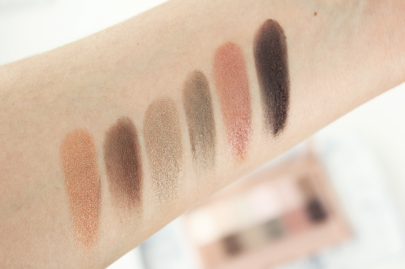 Swatches The Blush Nudes Eyeshadow Pallete Maybelline - part 1