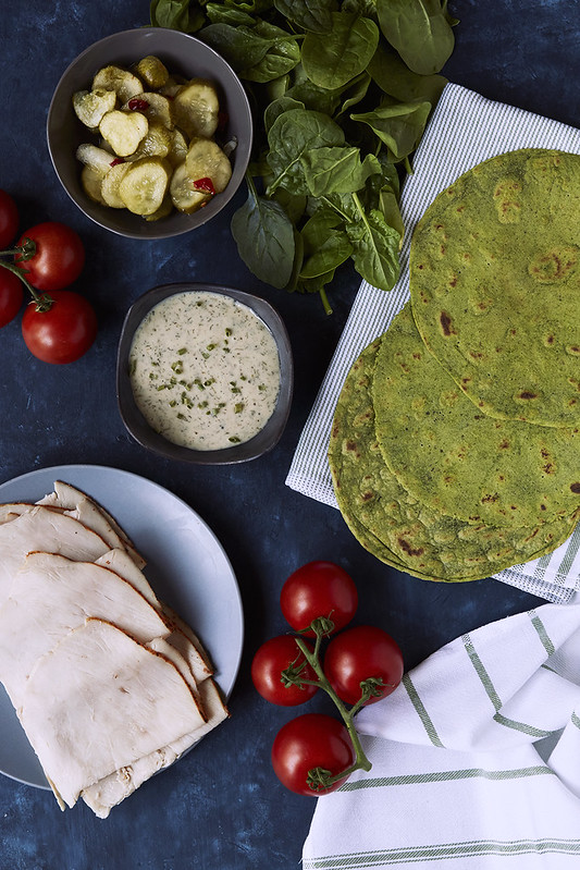 Grain-free Spinach Tortillas {Paleo, Vegan, Nut-free}