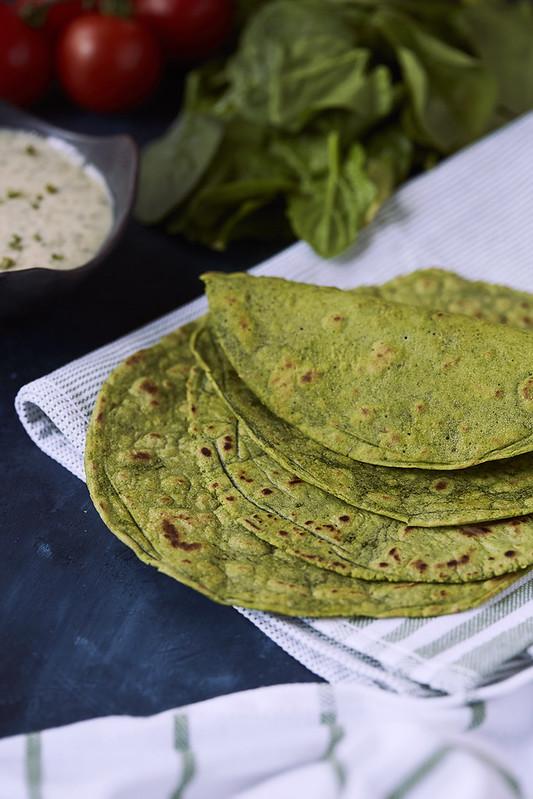 Grain-free Spinach Tortillas {Paleo, Vegan, Nut-free}