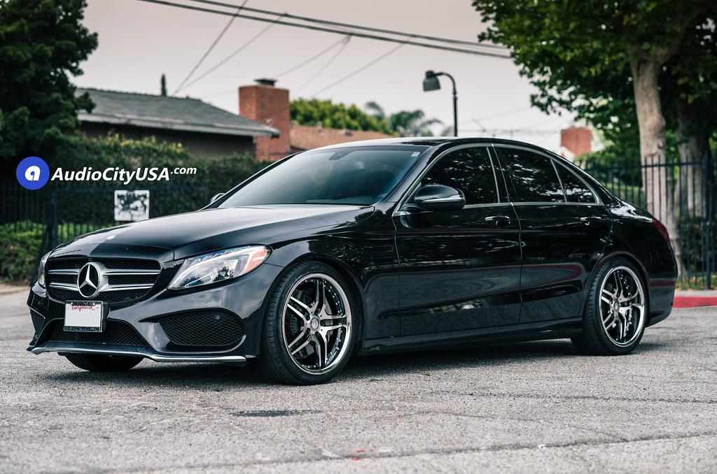 2016 mercedes bemz c300 19 euro mag wheels em2 black for Mercedes benz c300 black rims
