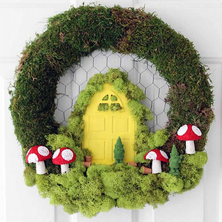 diy fairy garden wreath-00833