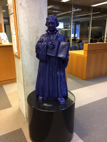 IMG_2070 - Martin Luther, Ottmar Hörl, 2010, Graduate Theological Union Library, UC Berkeley