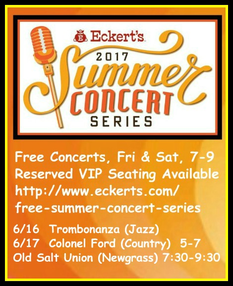 Eckert's Summer Concerts 6-16, 6-17-17