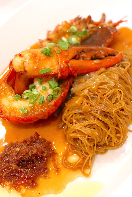 Simmered Egg Noodle with  Boston Lobster and XO Chilli  Sauce
