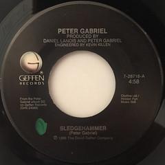 PETER GABRIEL:SLEDGEHAMMER(LABEL SIDE-A)