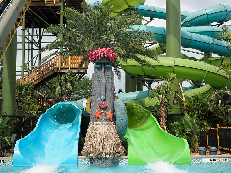 Water slides at Volcano Bay