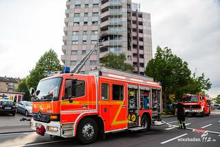 Wohnungsbrand Hochhaus Rüsselsheim 30.05.17