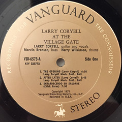 LARRY CORYELL:AT THE VILLAGE GATE(LABEL SIDE-A)