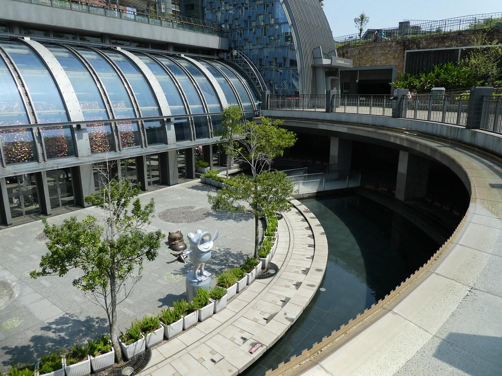 Sunken garden at Daan Park Station. Taipei