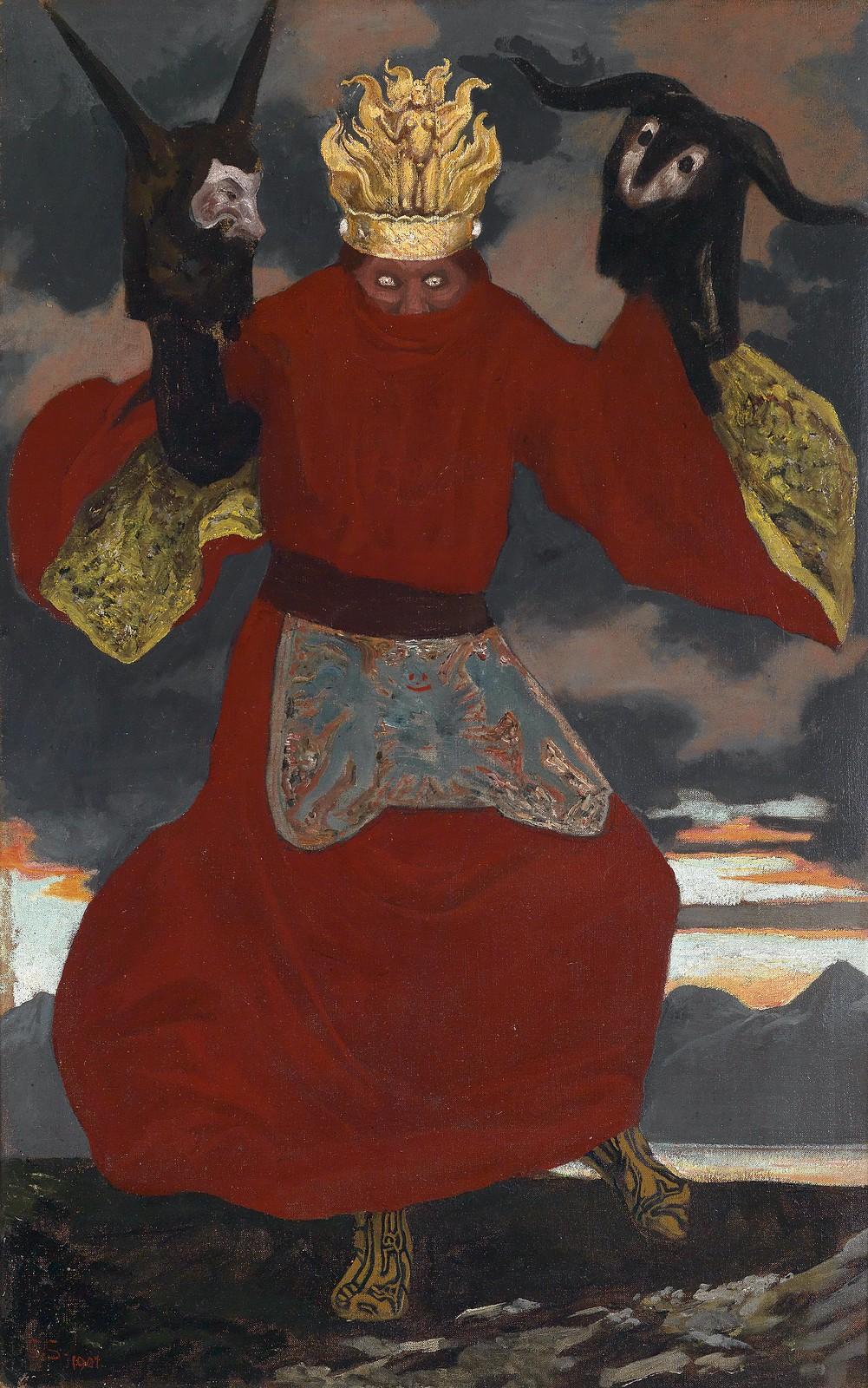 Sascha Schneider - The Shaman, 1901