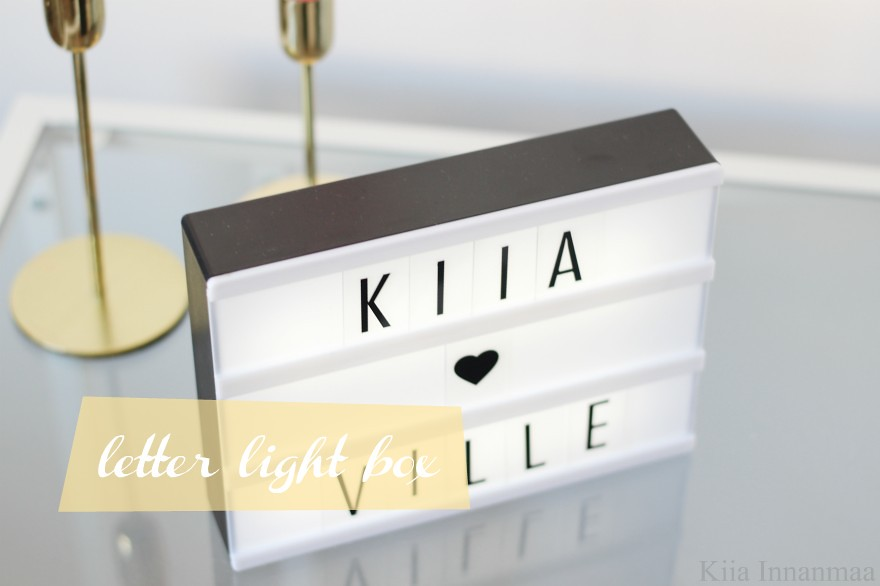 letter light box