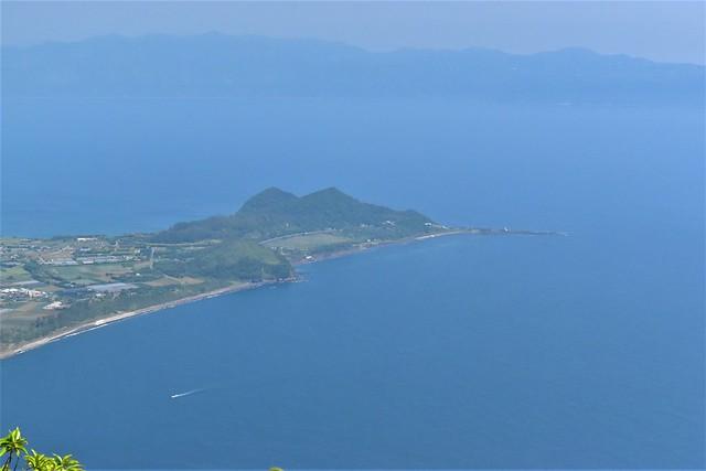 開聞岳から眺める長崎鼻