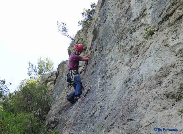 Oskar Linares - Vía 25, 6a+ -02- Pic de l'Àliga, Sector Pic de l'Àliga (28-05-2017)