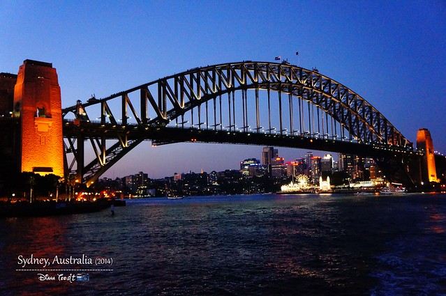 Day 1 - Sydney Harbour Bridge Night Time
