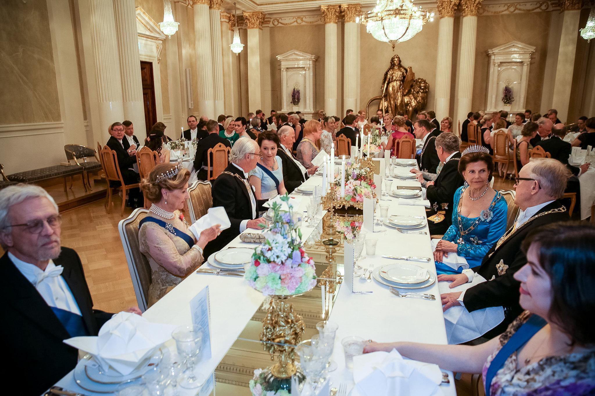 Pohjoismaiden valtionpäämiesten vierailu 1. kesäkuuta 2017 - Juhlapäivällinen Presidentinlinnassa