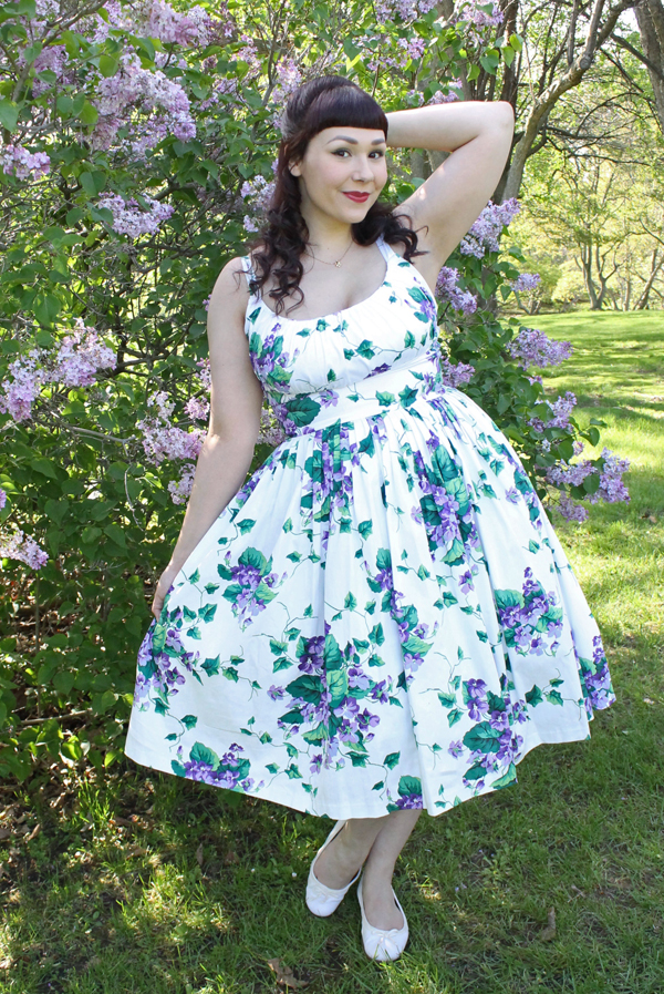 retrospec'd norma jean sweet violet dress