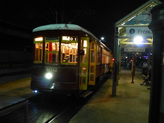Streetcar at night in New Orleans