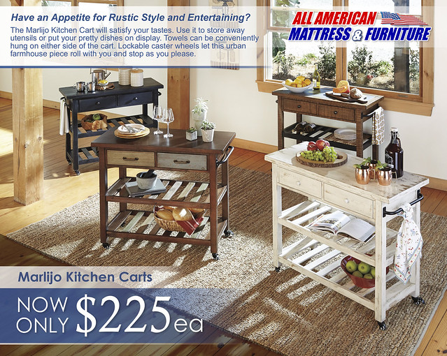 Marlijo Kitchen Cart SmallVersion D300-266-466-566-766